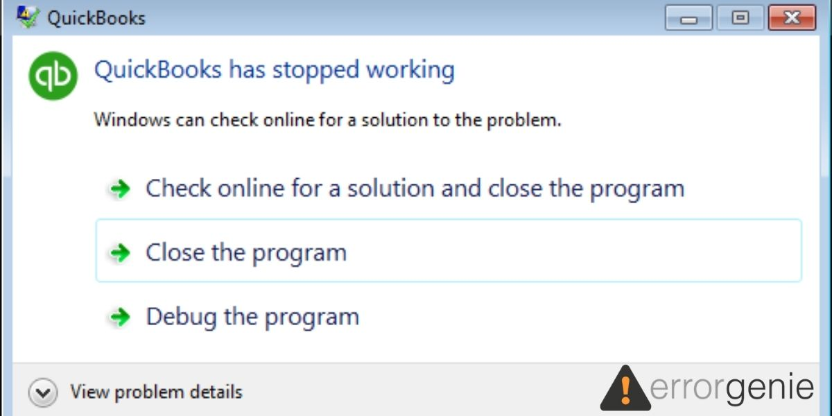 How to Fix Windows 10 QuickBooks has Stopped Working Error