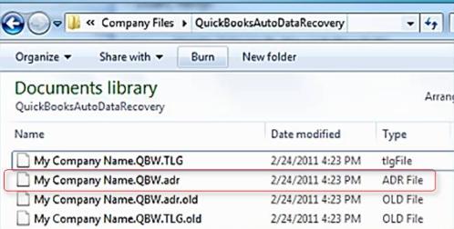 Recover  Recent Transactions via QBW File and TLG.adr File