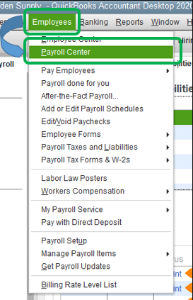 Delete Scheduled Liability Adjustment in QuickBooks