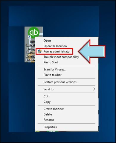 Launch QuickBooks as an Administrator