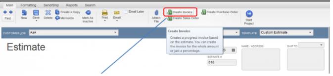 Create a New Invoice in QuickBooks Desktop