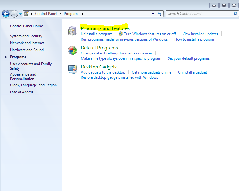 Delete QuickBooks Software on Windows 7 and Windows Vista