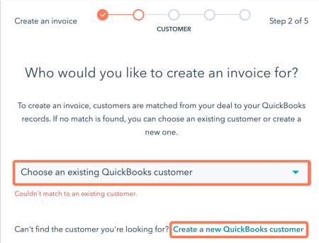 create a new QuickBooks customer
