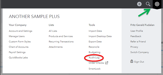 Audit Log - Find Deleted Invoices in QuickBooks