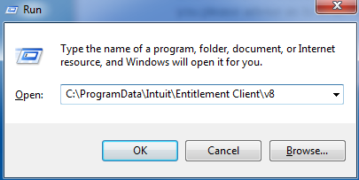 Locate the QuickBooks Entitlement File Location