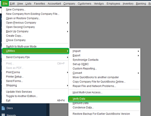 QuickBooks and access the company file