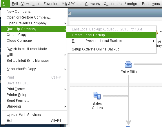 Create a Backup of Your Company Files to Avoid Losing Data