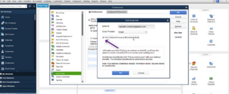 Setup Gmail/Yahoo in QuickBooks Desktop