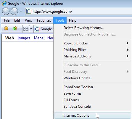 Configure Internet Properties