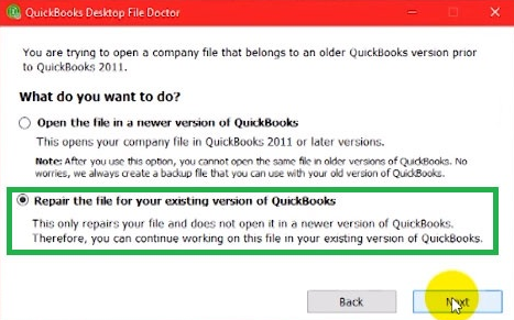 Repair Company Files Using QuickBooks File Doctor Tool