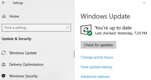 Checking Windows Update