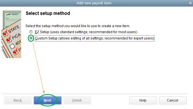 Select setup method