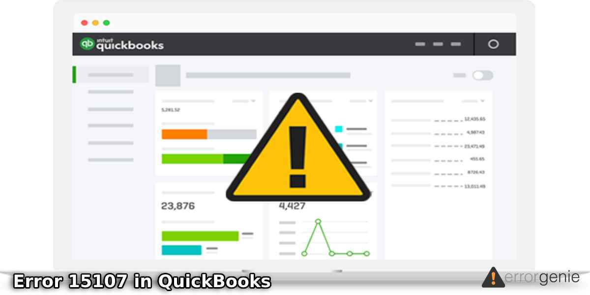 Troubleshoot Error 15107 in QuickBooks with Effective Solutions