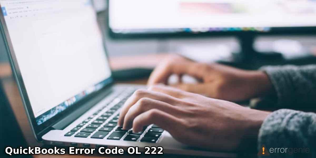 QuickBooks Error Code OL 222