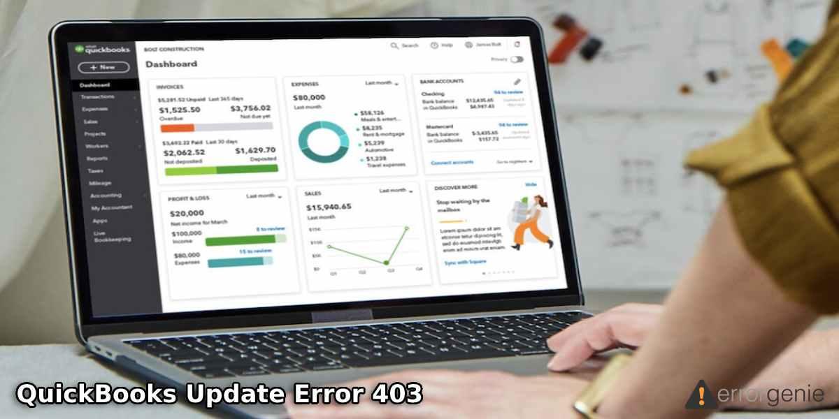 QuickBooks Update Error 403
