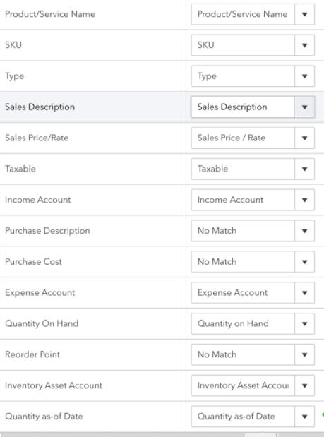 Prepare the Inventory Sheet