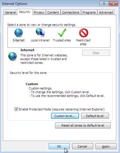 Verify the Active Script Settings in Internet Explorer