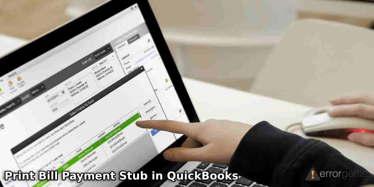 Print Bill Payment Stub in QuickBooks