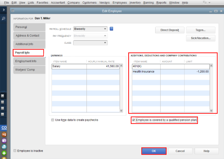 Set Up a Simple IRA in QuickBooks
